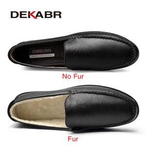 Image 2 - DEKABR İtalyan erkek ayakkabı rahat lüks marka yaz erkek mokasen ayakkabıları bölünmüş deri Moccasins rahat nefes tekne ayakkabı üzerinde kayma