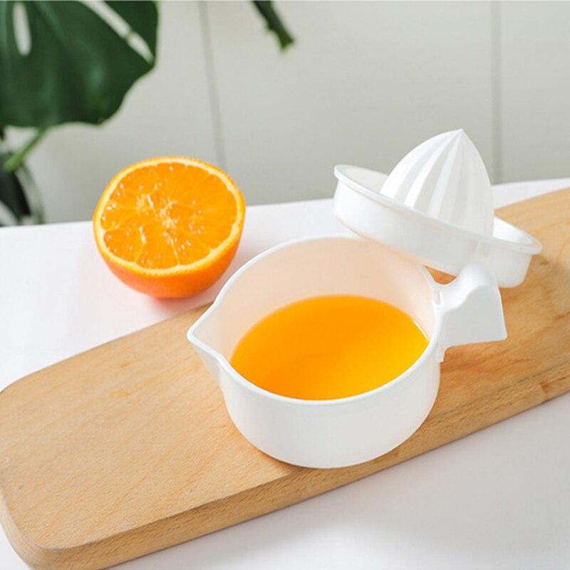 1 個キッチンアクセサリーマニュアルプラスチックフルーツツールオレンジレモンスクイー機ポータブル柑橘類ジューサー