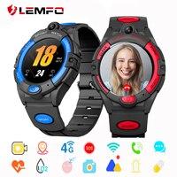 LEMFO niños reloj inteligente 4G GPS Wifi tarjeta Sim Video y sonido a ubicación cerca SOS Monitor trazador de la cámara del reloj de niños Smartwatch