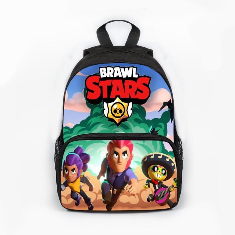 School-Bags Bookbag Knapsack Travel Backpacks Brawl Stars Waterproof Kids Teenage