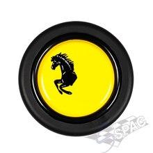 Botão universal do chifre do volante com peças interiores universais do carro do logotipo
