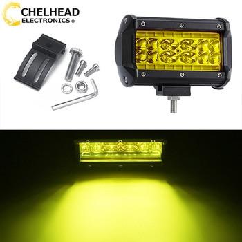 Luz led para coche, 12v, lámpara antiniebla ámbar, 3000k, barra de luces de trabajo, coche led, 78w, 5 ''drl, todoterreno, uaz, atv, accesorios para automóviles