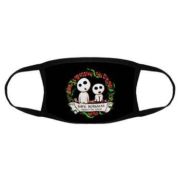 Save Kodamas Save Forest Men Dust Mask Princess Mononoke Harajuku Code Geass Printed Dust Mask Funny Face Mask For Men K012538 недорого