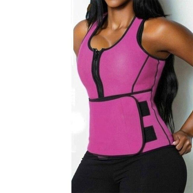 Women Body Shaper Vest Tank Plus Size Belly Belt Sweat Trainer Shaper Corset Waist Workout Adjustable Slim Female Shapewear 3