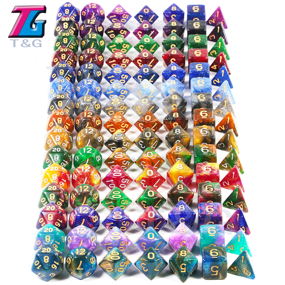2019 Super Universe Galaxy DND Dice Set D4-D20 RPG Best Gifts 15 Colors For Choose