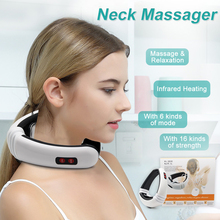 Aptoco Electric Pulse Back and Neck Massager Far Infrared Heating Pain Relief Tool Health Care Relaxation