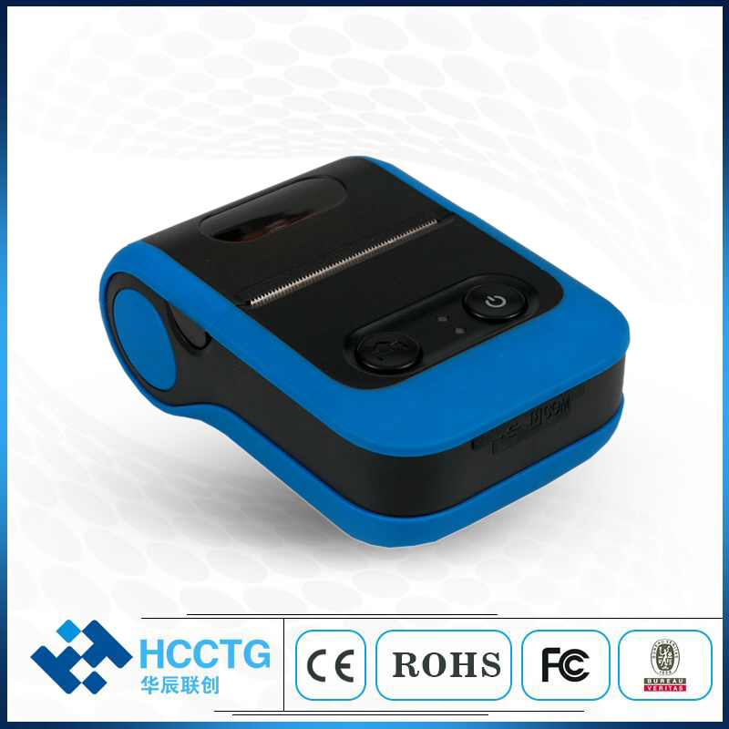 Blue USB Bluetooth Smallest Mobile 58mm Thermal Label Hand Held Printer HCC-L21