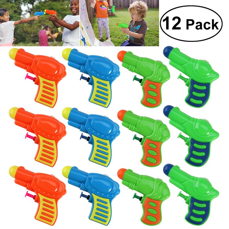 12pcs Water Guns Toys Kids Pistol Squirt Gun For Child Summer Beach Games Swimming Pool Classic Outdoor Beach Blaster Gun