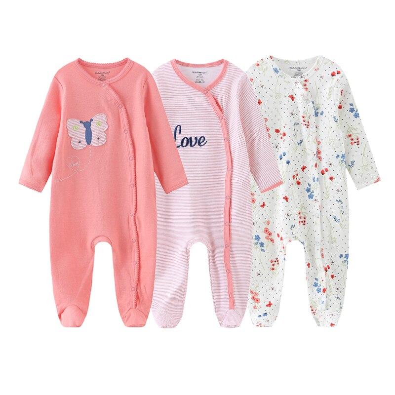 2021 macacão 1/3 pçs conjuntos de roupas do bebê recém-nascido algodão menino dos desenhos animados manga cheia roupas da menina do bebê imprimir primavera outono ropa bebe