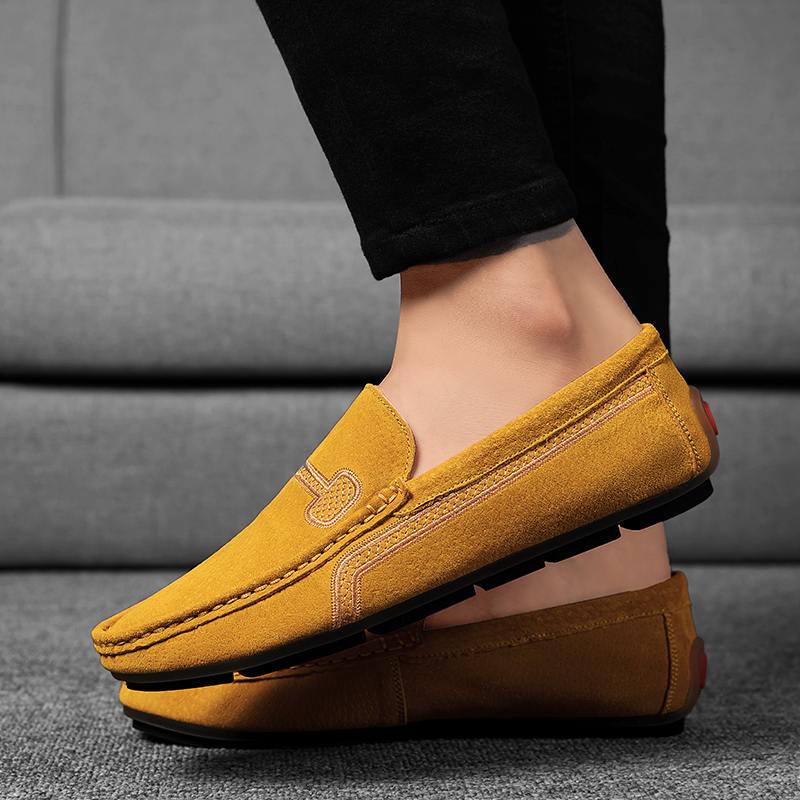 2020 Leather Loafers Men Shoes Men's Loafers For Men Comfortable Casual Shoes Slip On Moccasins Men Flats Footwear Plus Size 48
