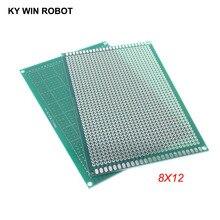 1 шт. 8x12 см 80x120 мм Односторонний Прототип PCB универсальная печатная плата для Arduino