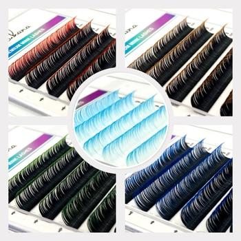 NATUHANA 12Rows Ombre Color Eyelash Extension Individual Faux Mink Lash False Gradient Eyelashes Professional Salon Makeup tools 1