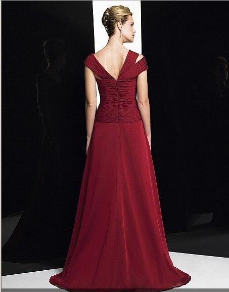 Купить с кэшбэком 2018 vestido de festa red long robe de soiree cap sleeve party elegant formal gown vestido de noiva mother of the bride dresses