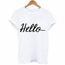 T-shirt  Women New Fashion Letter Print T-shirt Solid Simple Short Sleeve Tops 2019 Summer  Female Casual O-neck Top Tee цена