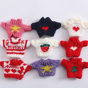 OB11 doll clothes baby clothes knit sweater cardigan coat clay doll beauty knot pig run baby dress Accessories(China)