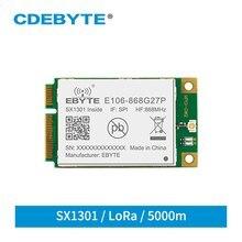 Sx1301 27dbm 868mhz lorawan porta maneira 5km spi relação transceptor sem fio para o desenvolvimento secundário E106-868G27P cdebyte