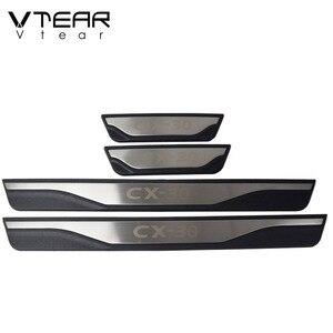Image 3 - Voor Mazda CX30 CX 30 2021 2020 Accessoires Auto Instaplijsten Scuff Plaat Interieur Trim Rvs Protector Plates Cover