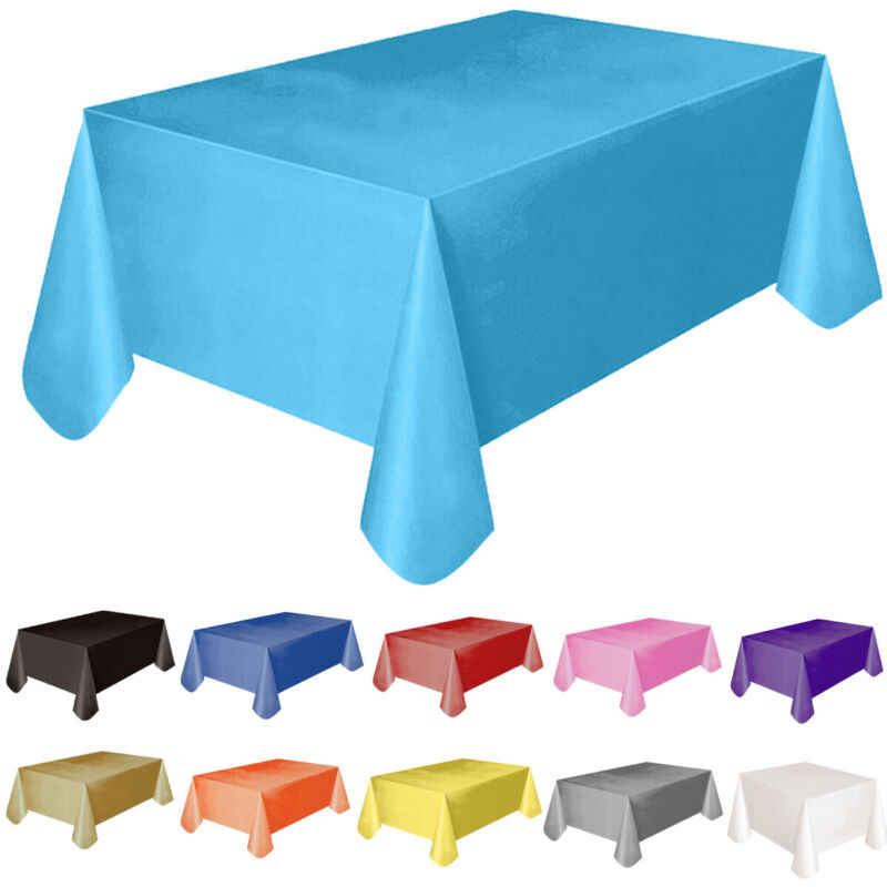 Rectange Kunststoff TABLECOVERS Tisch Tuch Abdeckung Party Catering Veranstaltungen Geschirr