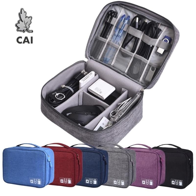 Waterproof Travel Digital Cable Storage Bag Mobile Power Organizer Bag Electronics Accessories Bag Case For Earphones Case Bags