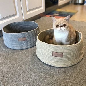 Hot Cotton Rope Knitting Pet Kennel Cat Anti-scratch Kennel Bed Cat Sleeping Bags Pet Bed Pet Mat Scratching Board House Hot