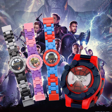 Batman Spiderman Watch Building Blocks Toy Avengers Figures Bricks Toys Compatib