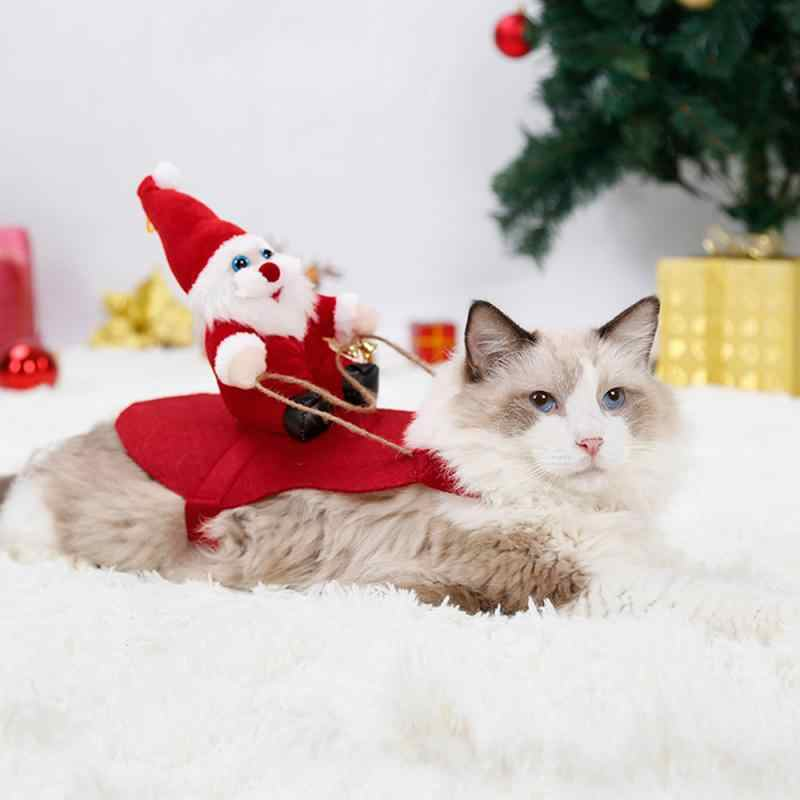 Pet Dog Cat Christmas Clothes Santa