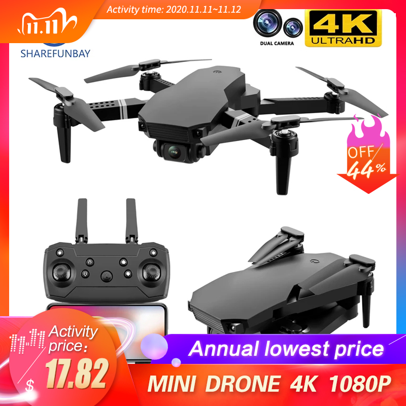 New 2020 S70 drone 4K HD dual camera foldable height keeping drone WiFi FPV 1080p real-time transmission RC Quadcopter toy