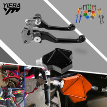 Motorcycle Brake Clutch Levers Pivot Brake Clutch Lever Pull Clutch Lever System free Custom Logo For Honda CRF250X 2004-2016 free shipping motorcycle modified skull clutch lever