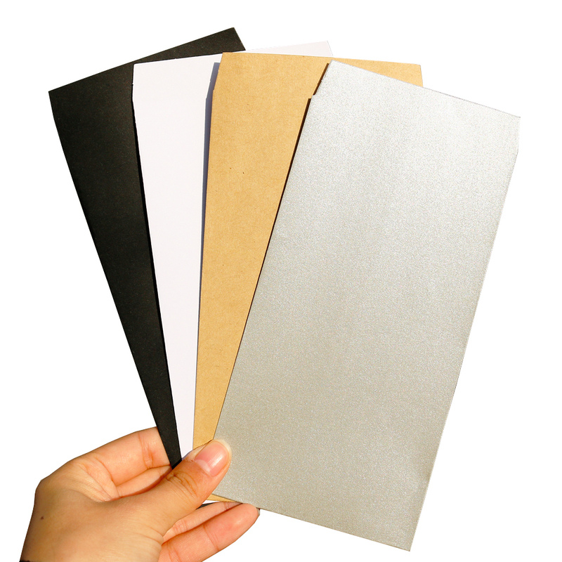 12pcs Classical Retro Kraft Paper Envelopes DIY Craft Blank Silver Blank Paper Bag Wedding Party Invitation Gift Envelope