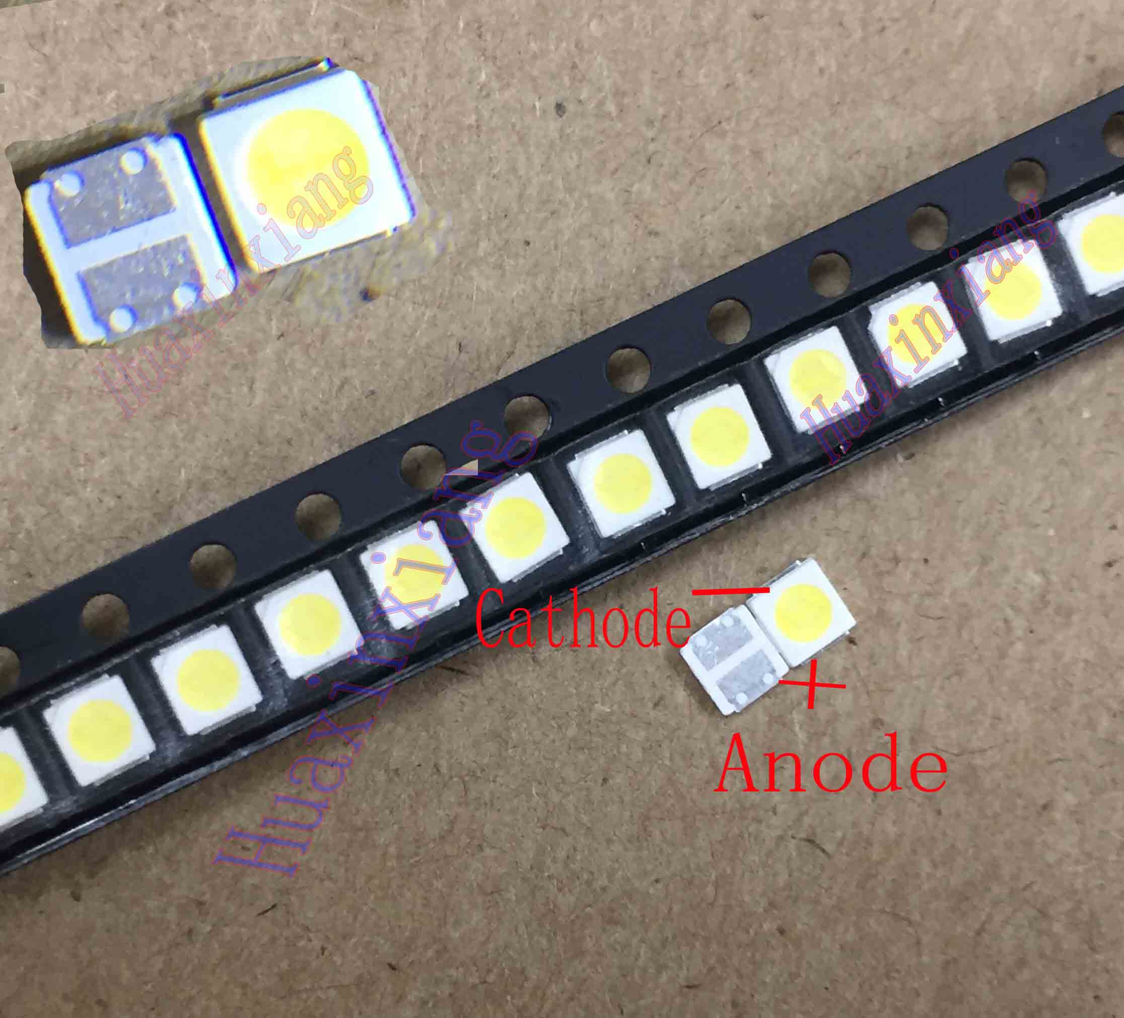 100pcs/Lot  1.8W SMD LED 3030 3V Cool White High Power For TV Backlight Application 3.0*3.0*0.6mm