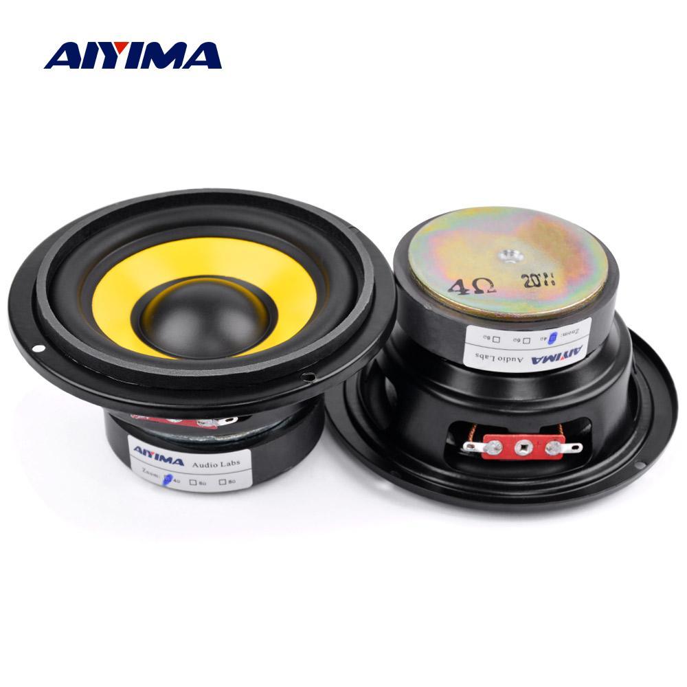 AIYIMA 2Pcs 4 Inch Midrange Bass Speaker Driver 4 8 Ohm 20W Audio Woofer Speakers DIY Home Theater Music Loudspeaker