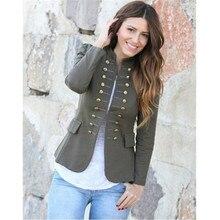 Женские осенние модные куртки, одежда блейзеры, двубортный пиджак с длинным рукавом и пуговицами, офисный женский пиджак, осень