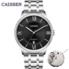 CADISEN Men Classic Automatic Mechanical Watches Brand Luxury Miyota 8215 Man Stainless Steel Wristwatch Clock Relogio Masculino