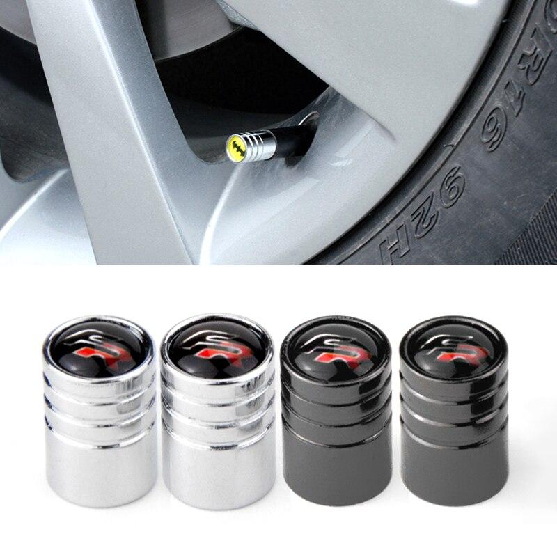Round Car Tire Valve Cap Wheel Tyre Air Valve Cap For Seat Leon FR+ Cupra Ibiza Altea Exeo Formula Racing Sports Car-Styling