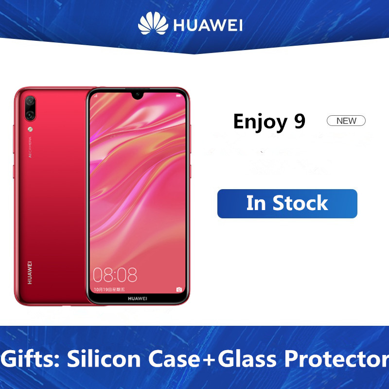 "Original HuaWei Y7 Pro 2019 Enjoy 9 4G LTE Mobile Phone Octa Core Android 8.1 6.26"" IPS 1520X720 4GB RAM 128GB ROM Face ID