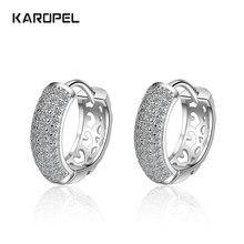 Karopel Zircon Charm Silver Earrings for Women 925 Sterling Silver Jewelry Earring Fashion Party Gift