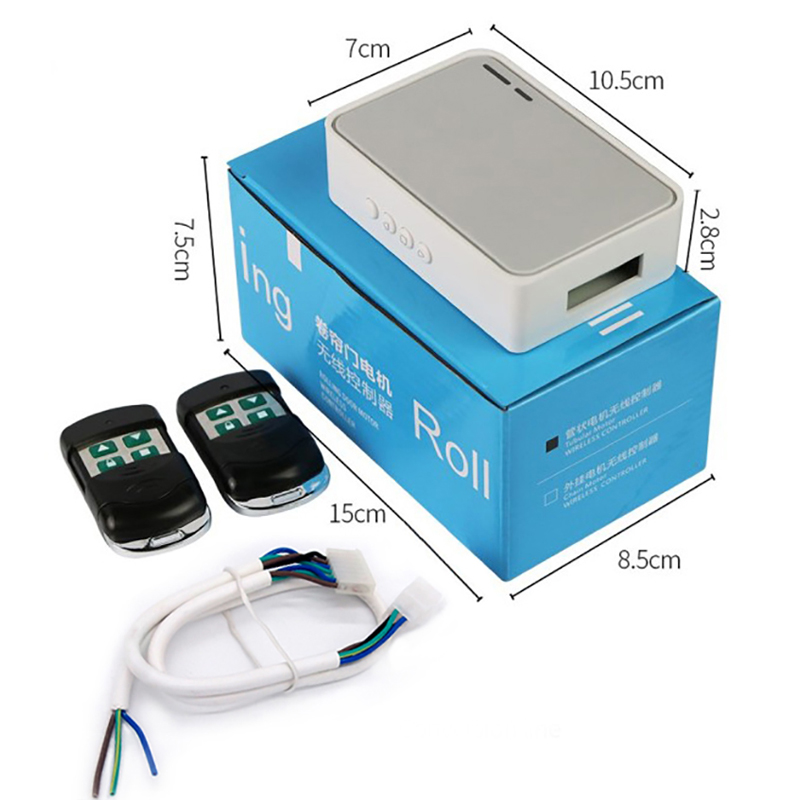 ANYSANE-Rolling-Shutter-Tubular-Motor-Controller-Wireless-Garage-Door-Electric-Door-Remote-Control-Kit-RF433mhz-Receiver