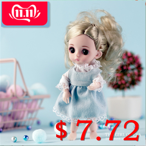 Lol Doll Surprise For Girls Silicone Doll Toy For Children Fashion Girl Joints Simulation 3D Cuddle Gift Soft Body Toy W822(4)