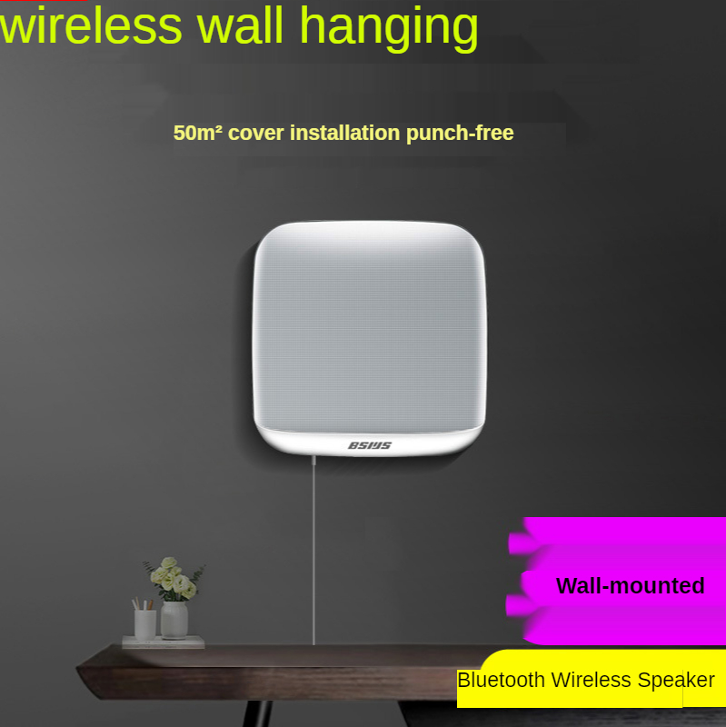 Home Wall-mounted Bluetooth Wireless Speaker Commercial Smart Hanging Audio Usb Subwoofer Indoor
