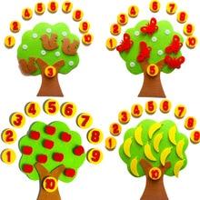 Сделай Сам тканевые Развивающие Игрушки для раннего обучения учебные материалы яблони Математические Игрушки для обучения в детском саду