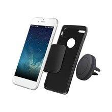Ac001 magnético telefone do carro montagem para ventilação de ar universal celular suporte para telefones celulares berço com duas placas de metal forte