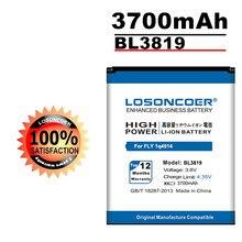 LOSONCOER – batterie haute capacité 3700mAh BL3819, pour téléphone portable FLY IQ4514 BL 3819 IQ 4514 Quad EVO Tech 4, en Stock