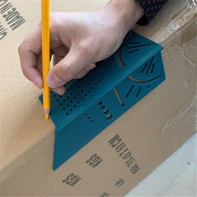 Lavorazione del legno Righello 3D Mitra Angolo di Calibro di Misurazione Formato Quadrato Strumento di Misura 4