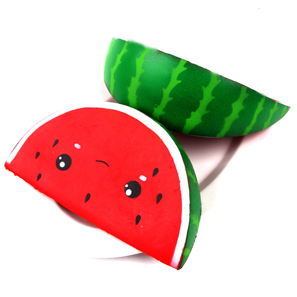 Cute Smiley Watermelon Mini Cream Squeeze Toy Slow Rising Decompression Fun Carry Play Toys Gift   L1213