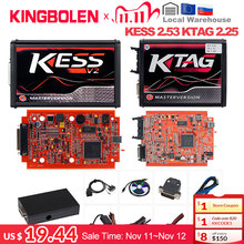 KESS V2 V2.53 V5.017 EU 레드 ECM 티타늄 KTAG V2.25 V7.020 4 LED 온라인 마스터 버전 BDM 프레임 fgtech ECU OBD 트럭 프로그래머