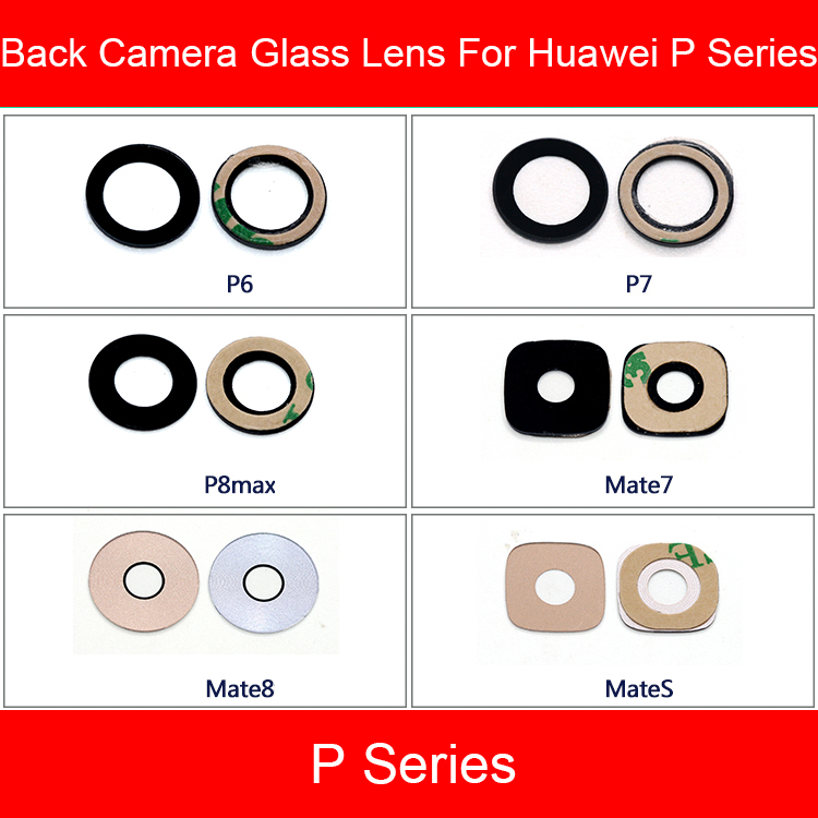 Back Camera Glass Lens For Huawei P6 P7 P8 P8MAX MATE 7 8 S Rear Camera Lens Cover + Adhesive Sticker Replacement Repair Parts