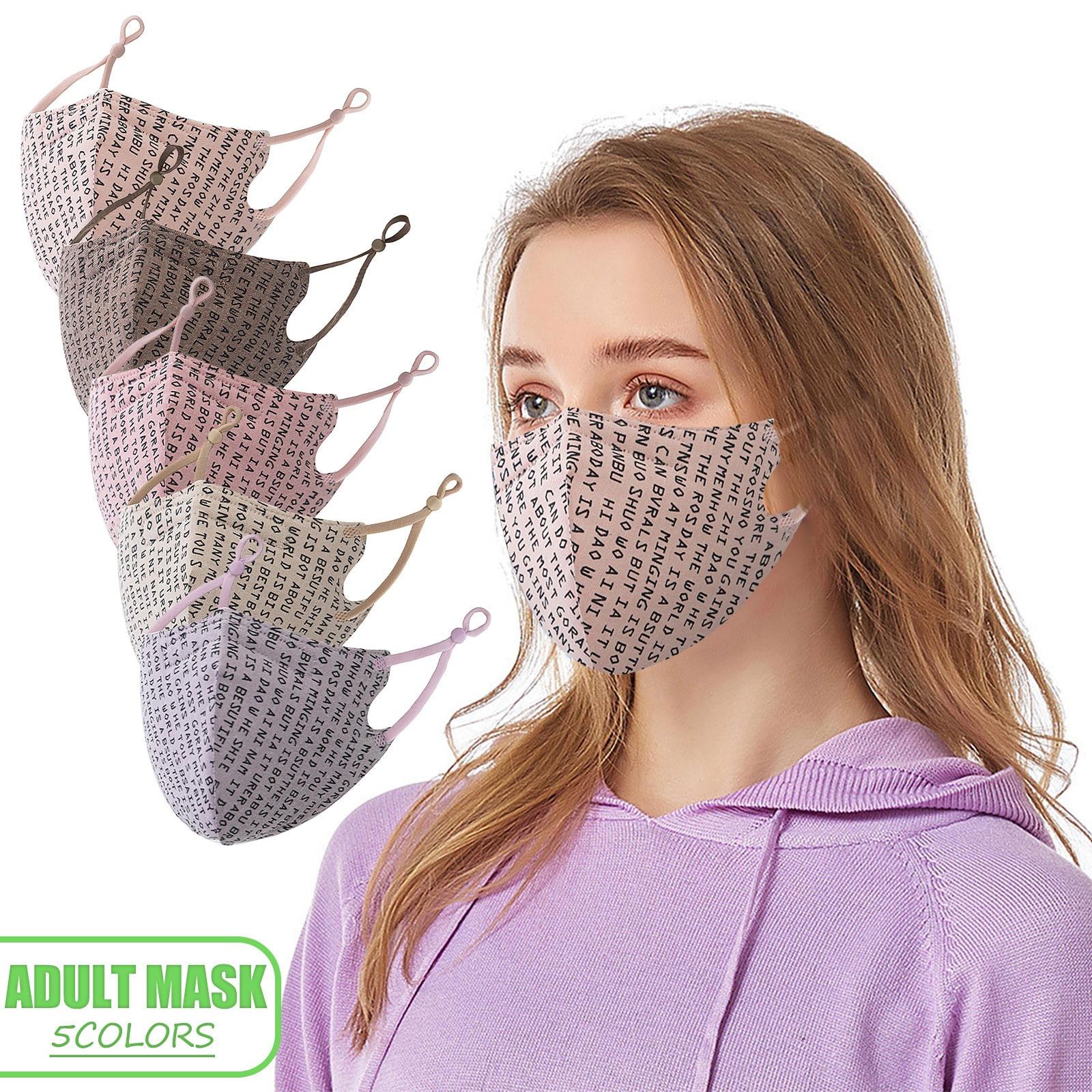 Маска для взрослых многоразовая моющаяся Регулируемая Маска для рта с принтом дышащая Ветрозащитная маска маски многоразовые маски # M