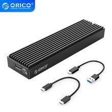 ORICO LSDT M.2 NVME Gehäuse USB C Gen2 10Gbps PCIe SSD Fall M2 SATA NGFF 5Gbps SSD Fall werkzeug Kostenloser Für 2230/2242/2260/2280 SSD