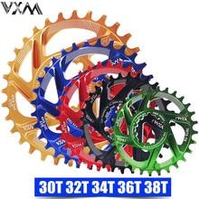 VXM אופניים Chainwheel 30T 32T 34T 36T 38T צר רחב אופניים Chainring עבור GXP XX1 x9 XO X01 CNC AL7075 Crankset אופניים חלקים
