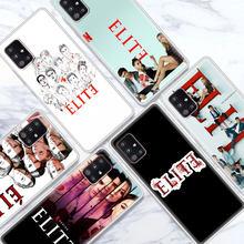 Coque translucide pour Samsung Galaxy A51 A71 A21s M51 M30s A41 A31 A91 A11 M31 A12 A02s, série TV espagnole Elite